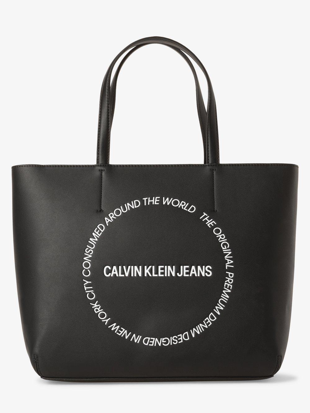 Calvin Klein Jeans - Damska torba shopper, czarny