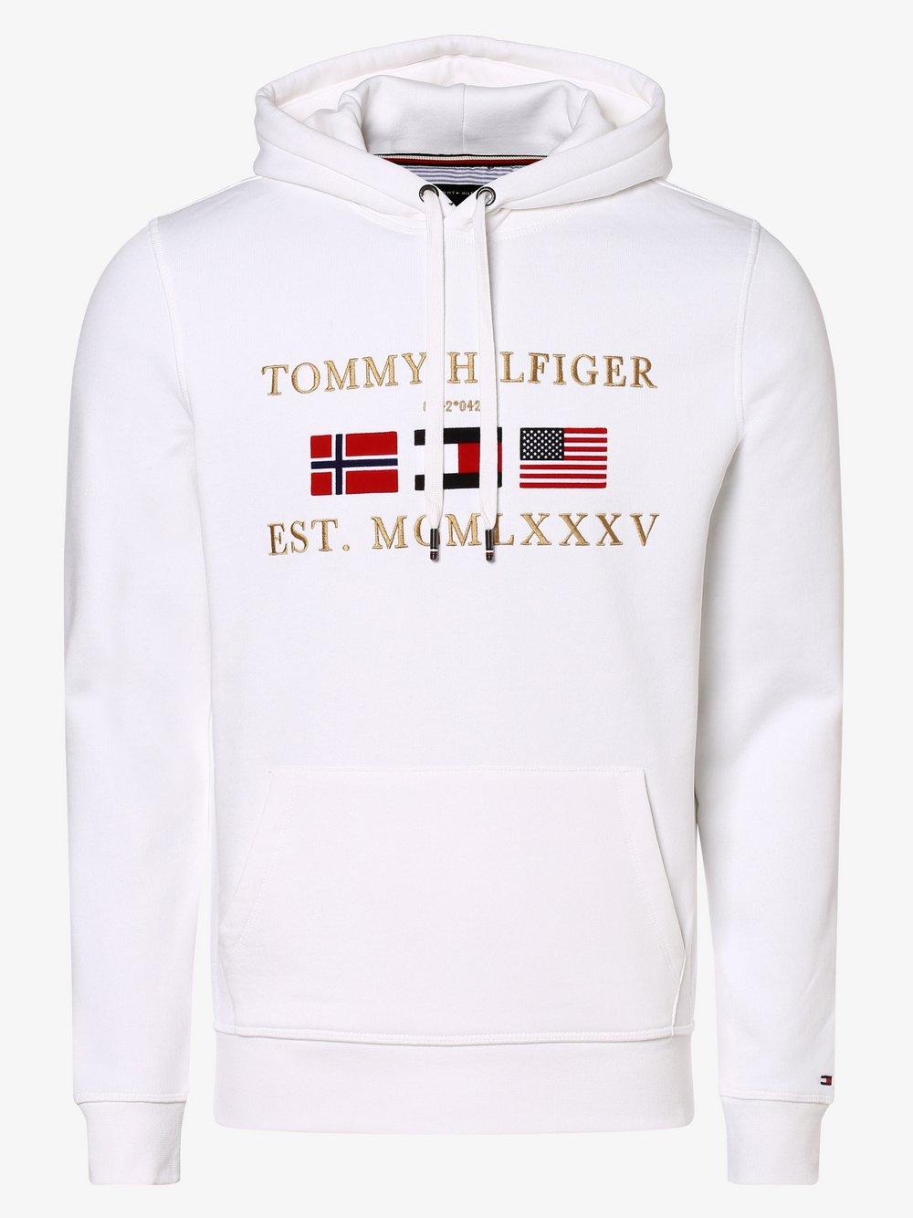Tommy Hilfiger - Męska bluza nierozpinana, biały