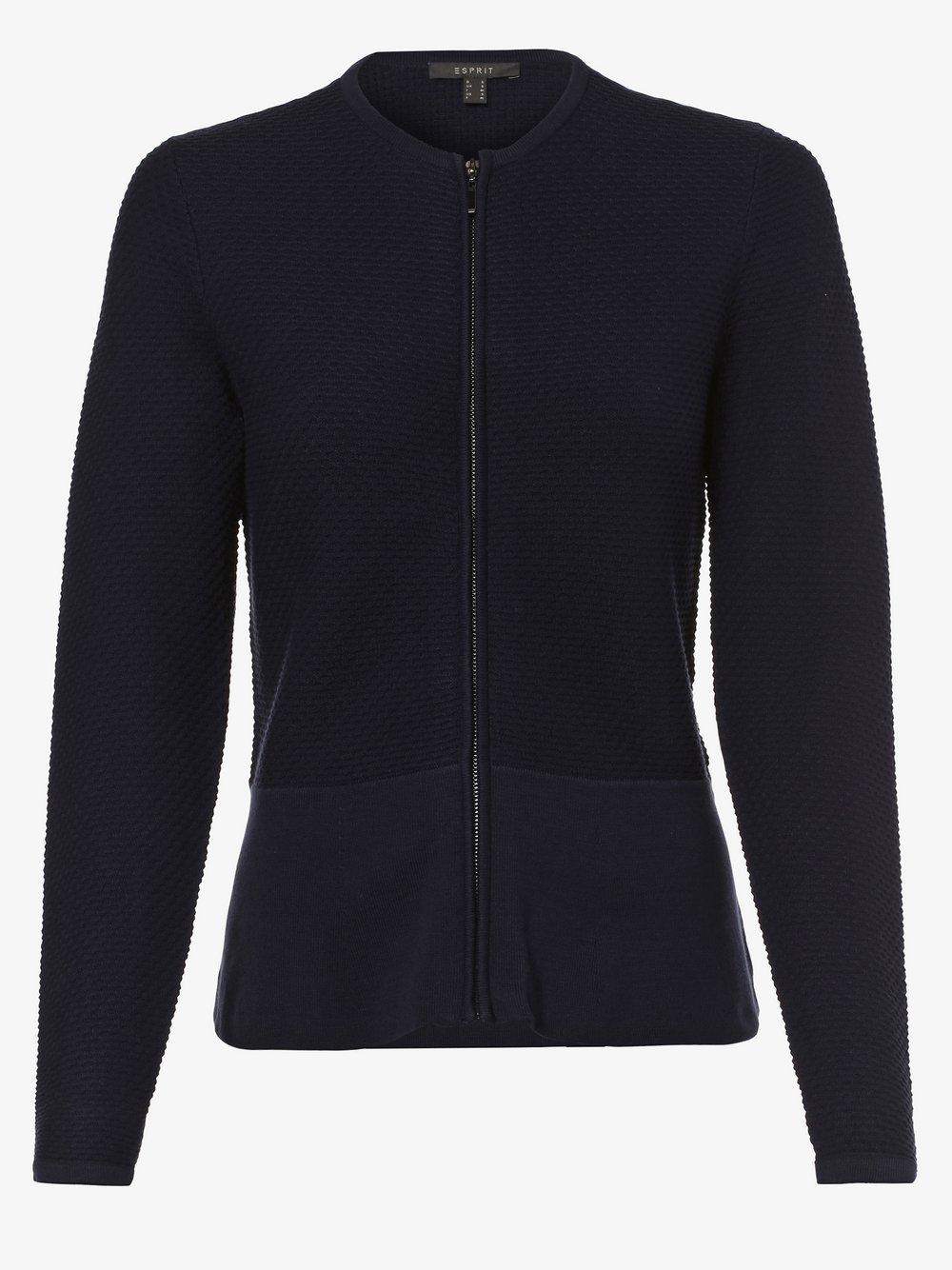 Esprit Collection – Kardigan damski, niebieski Van Graaf 455549-0002-09900