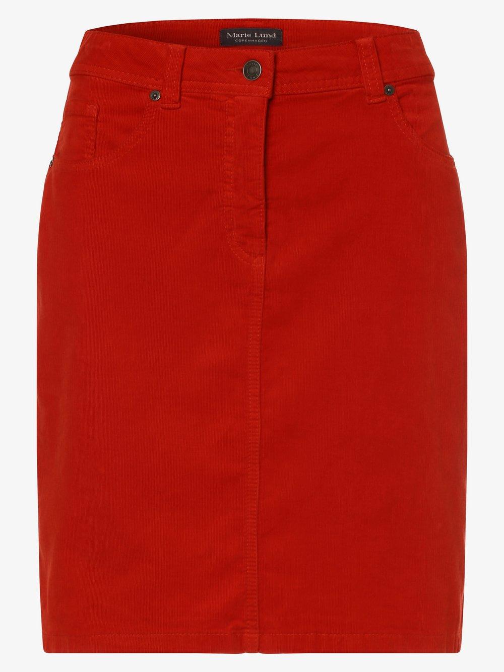 Marie Lund - Spódnica damska, czerwony