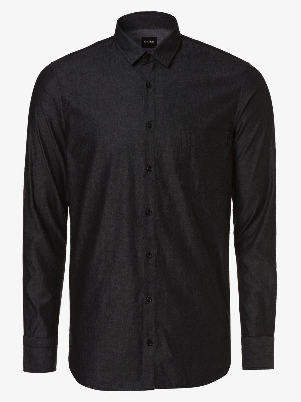 BOSS Casual – Koszula męska – Magneton_1, czarny Van Graaf 455736-0001