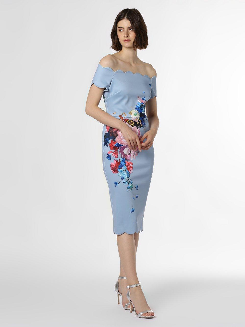 Ted Baker - Sukienka damska – Hailly, niebieski