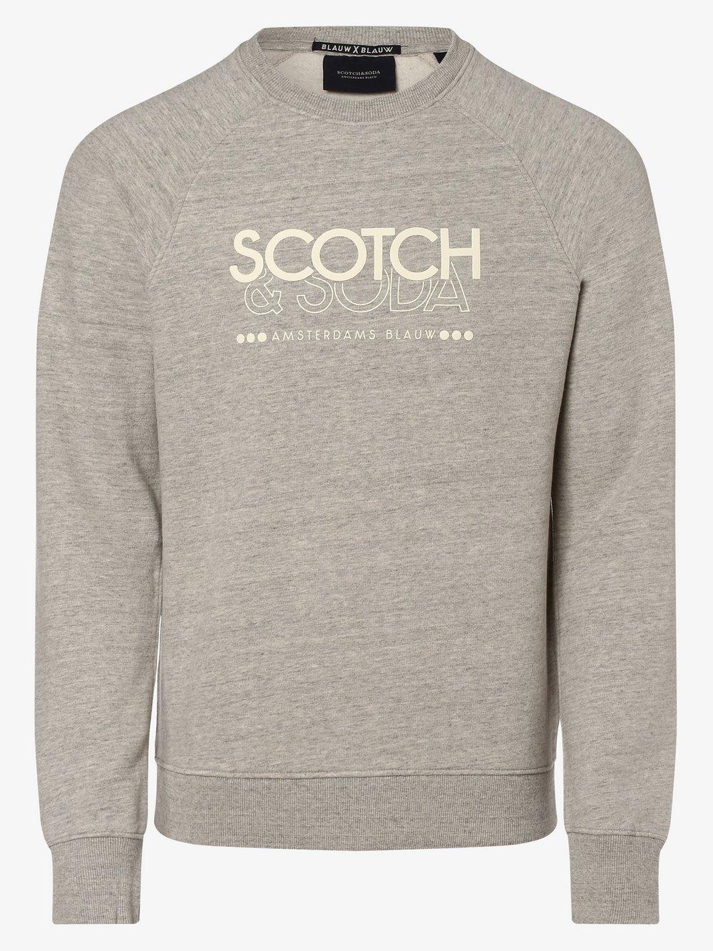 Scotch & Soda - Męska bluza nierozpinana, szary
