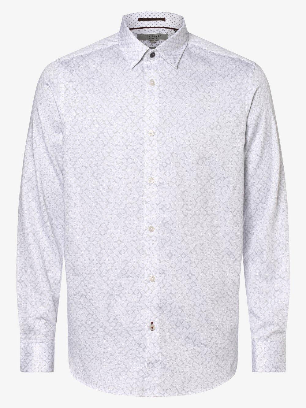 Ted Baker – Koszula męska – Whonos, biały Van Graaf 456184-0001-09920