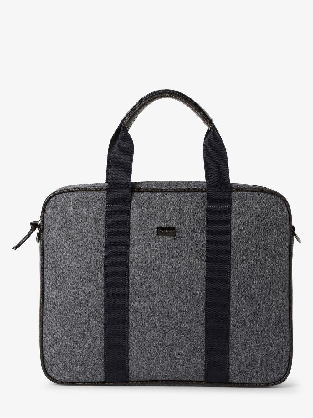 Ted Baker – Męska torba na laptopa, szary Van Graaf 456223-0001