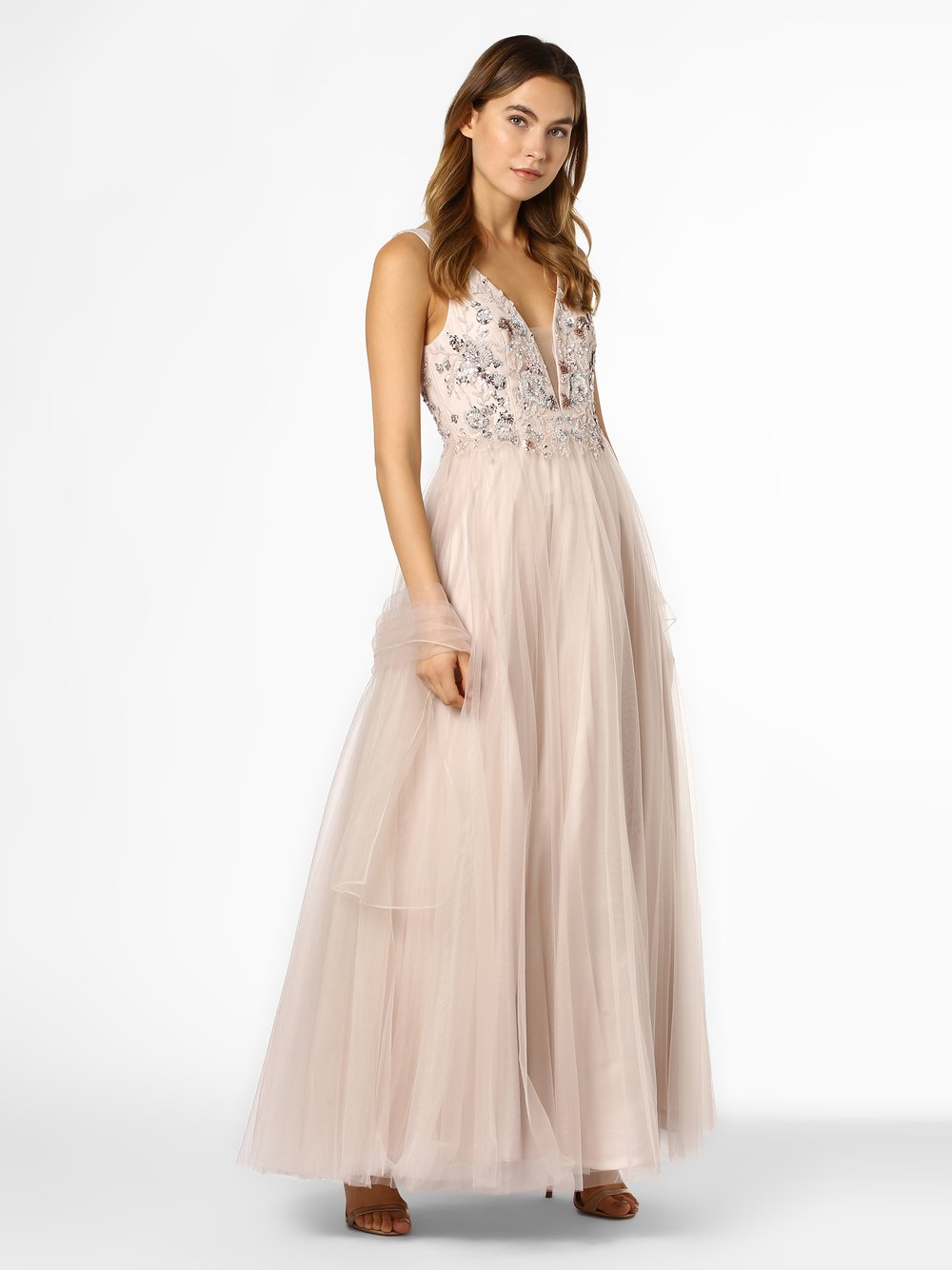 Unique – Damska sukienka wieczorowa, beżowy Van Graaf 456329-0001-00400