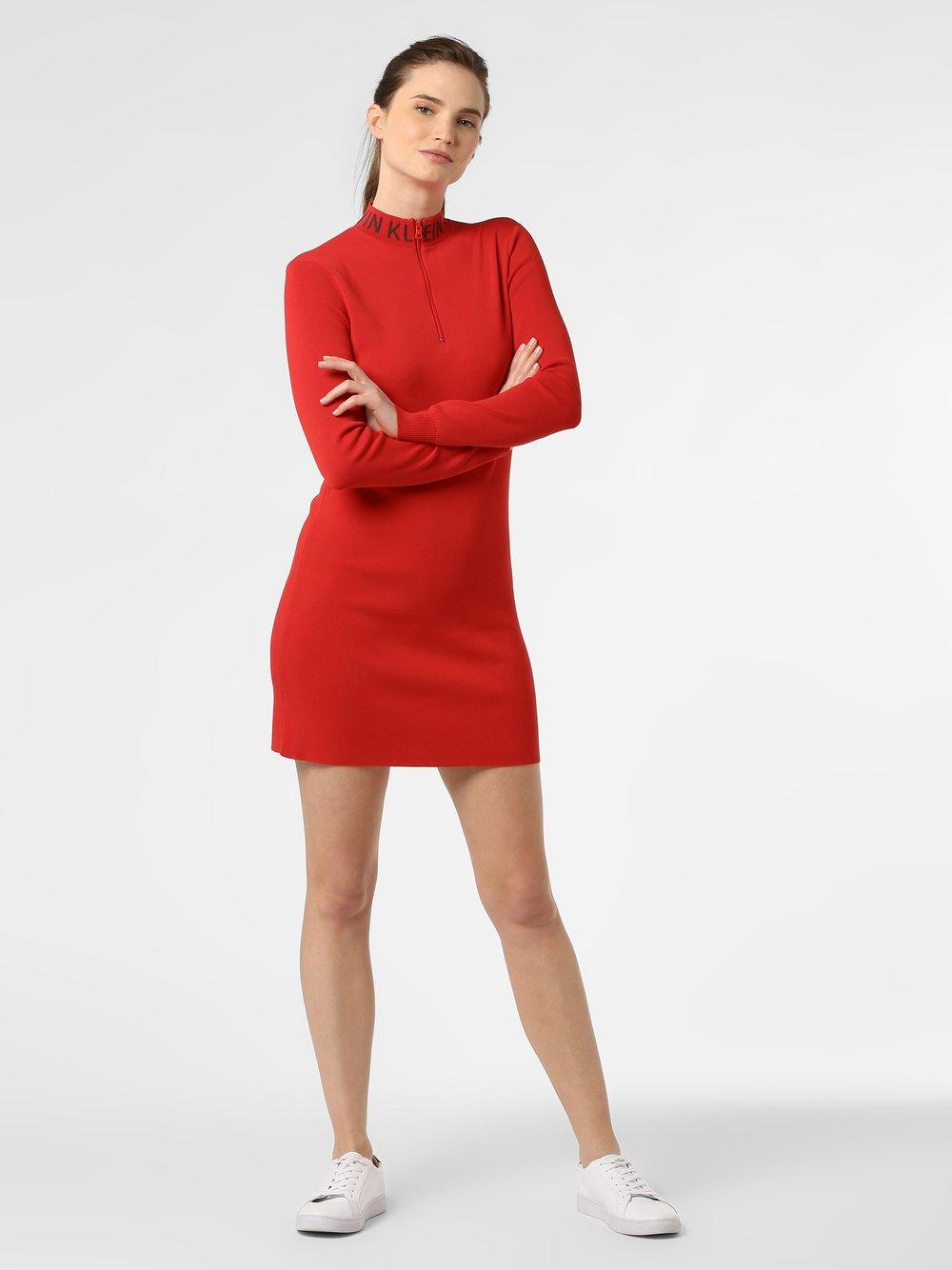 Calvin Klein Jeans - Sukienka damska, czerwony