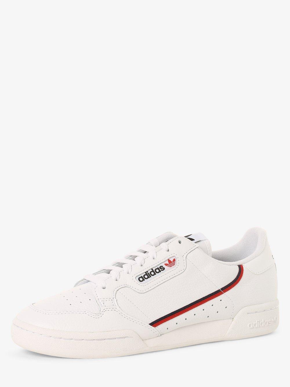 adidas Originals - Damskie tenisówki ze skóry – Continental 80, biały