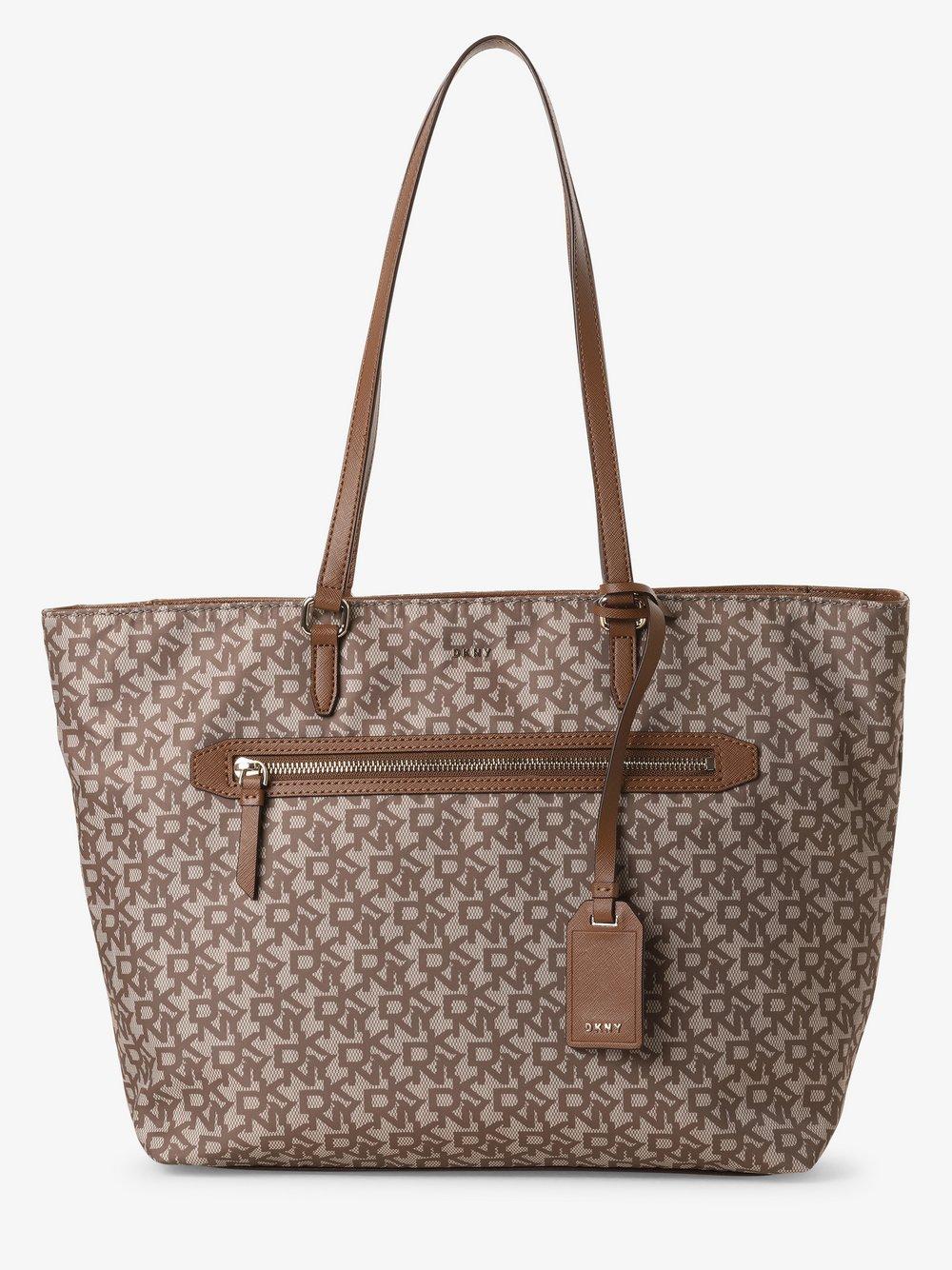 DKNY - Damska torba shopper, beżowy