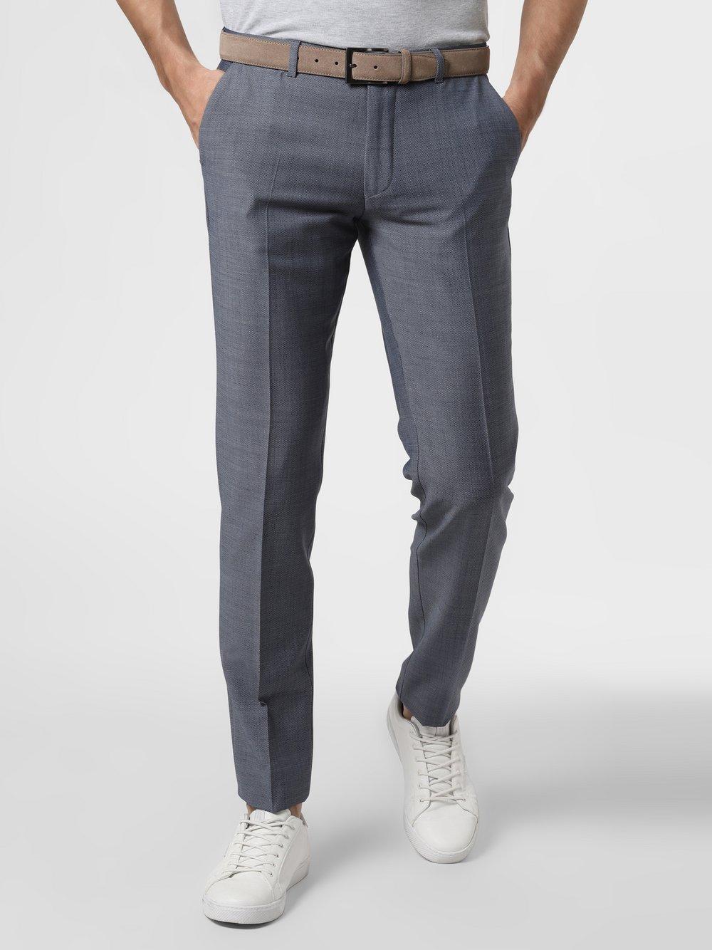 Drykorn - Męskie spodnie od garnituru modułowego – Foot, niebieski