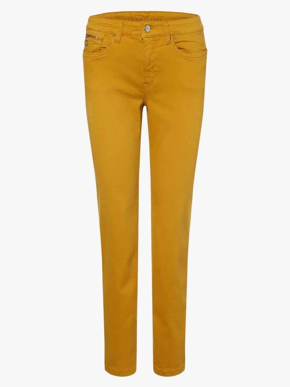 MAC - Spodnie damskie – Dream Slim, żółty