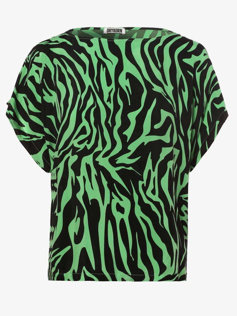 Drykorn - Bluzka damska – Somia, zielony
