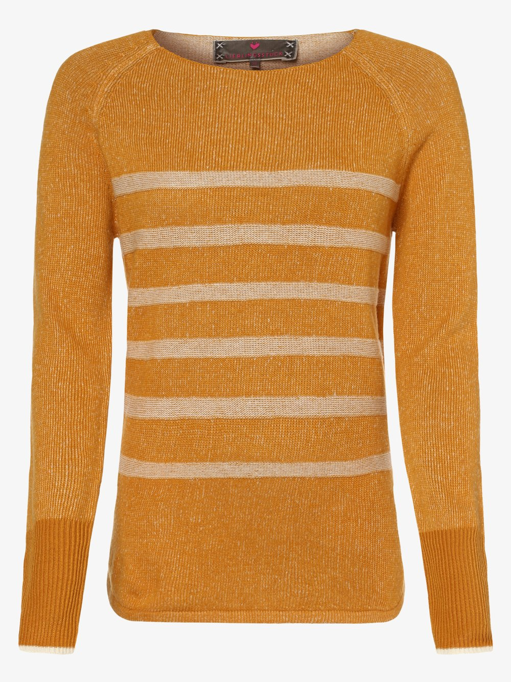 Lieblingsstück – Sweter damski – ScoselineL, żółty Van Graaf 457255-0002-00460
