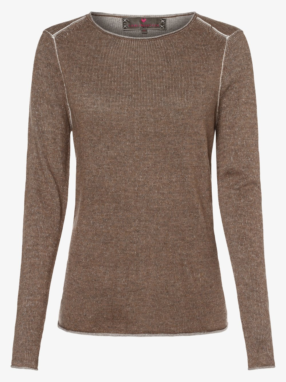 Lieblingsstück – Sweter damski – HalinaL, brązowy Van Graaf 457267-0002-00420