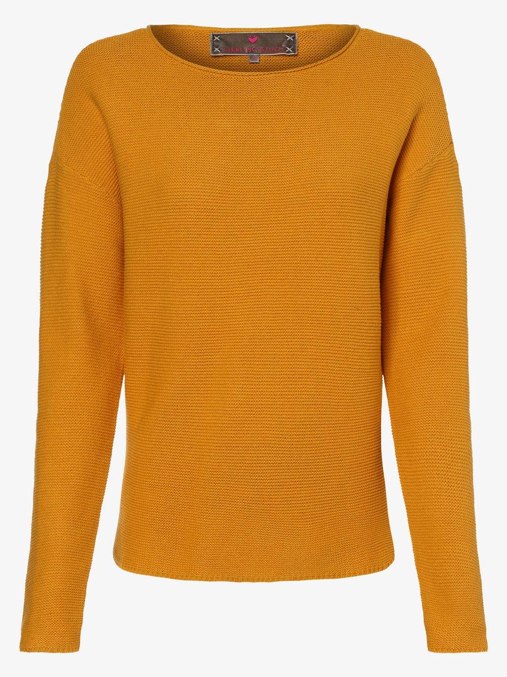 Lieblingsstück – Sweter damski – AnnikaL, żółty Van Graaf 457272-0002-00460