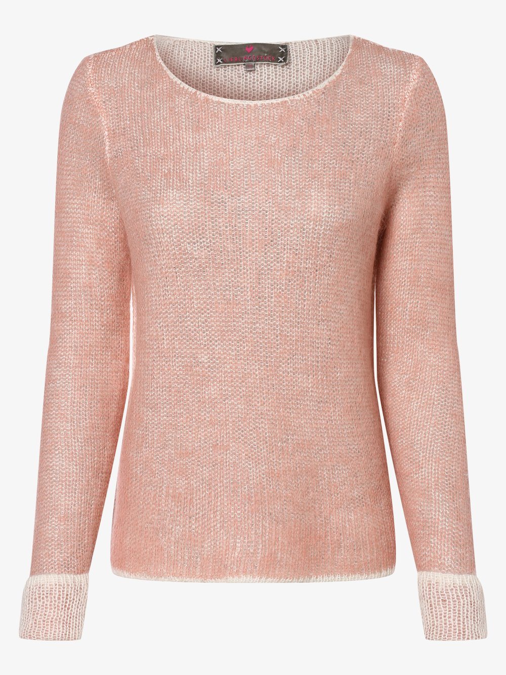 Lieblingsstück – Sweter damski z dodatkiem moheru – AgaschaL, różowy Van Graaf 457275-0001-00420