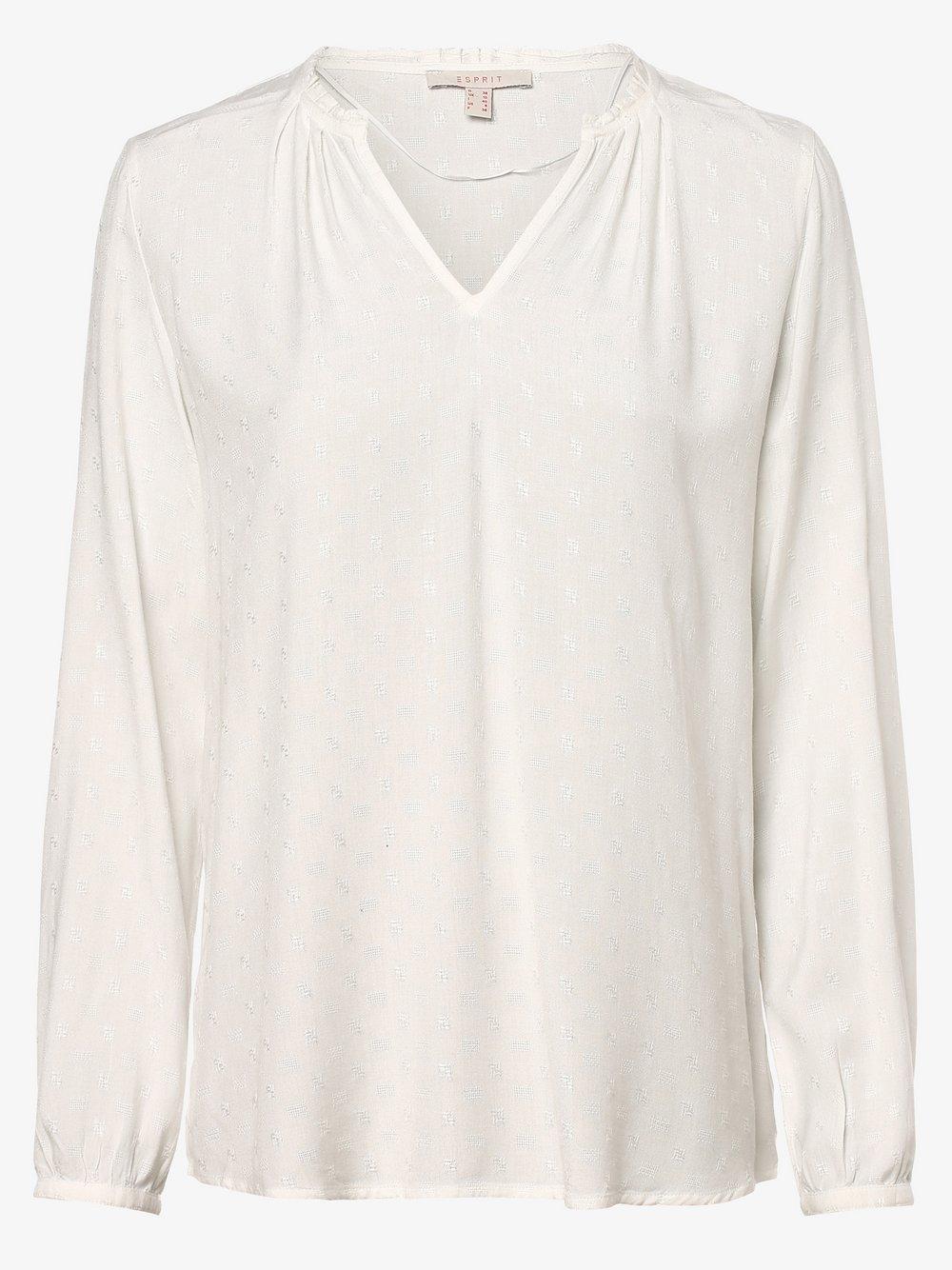 Esprit Casual – Bluzka damska, beżowy Van Graaf 457319-0001-00400