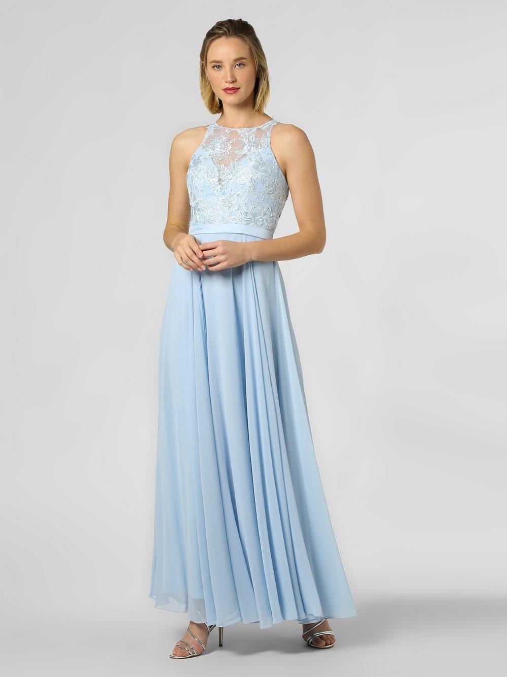 Luxuar Fashion – Damska sukienka wieczorowa, niebieski Van Graaf 457402-0001-00340