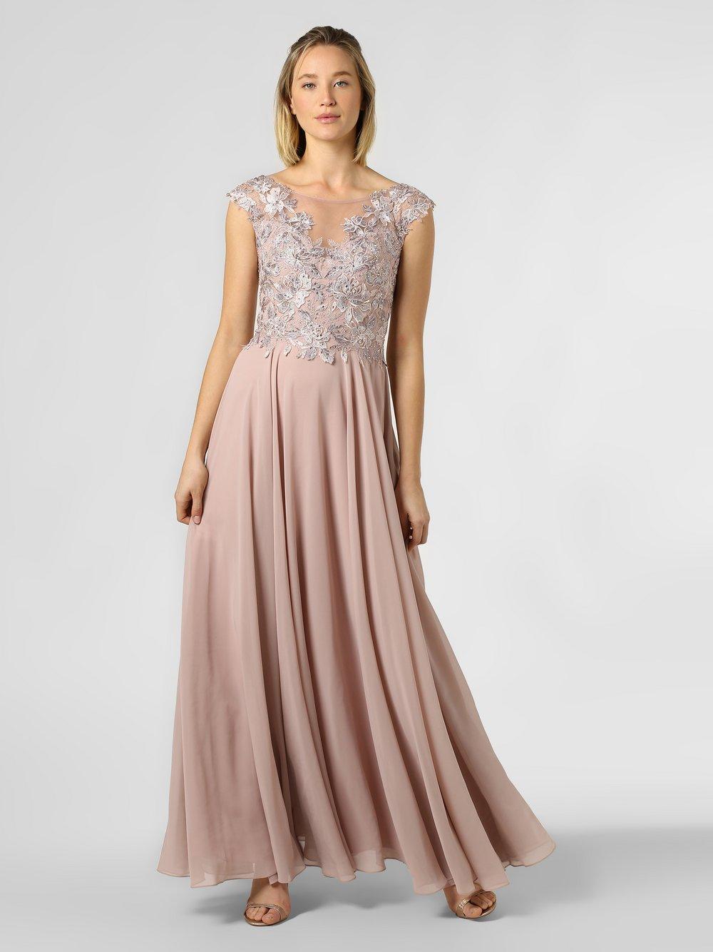 Luxuar Fashion - Damska sukienka wieczorowa, różowy