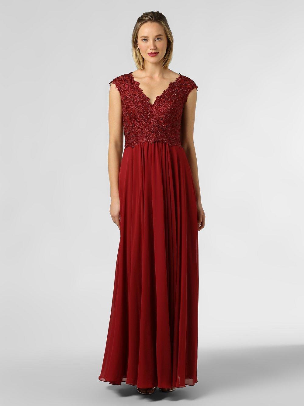 Luxuar Fashion - Damska sukienka wieczorowa, czerwony