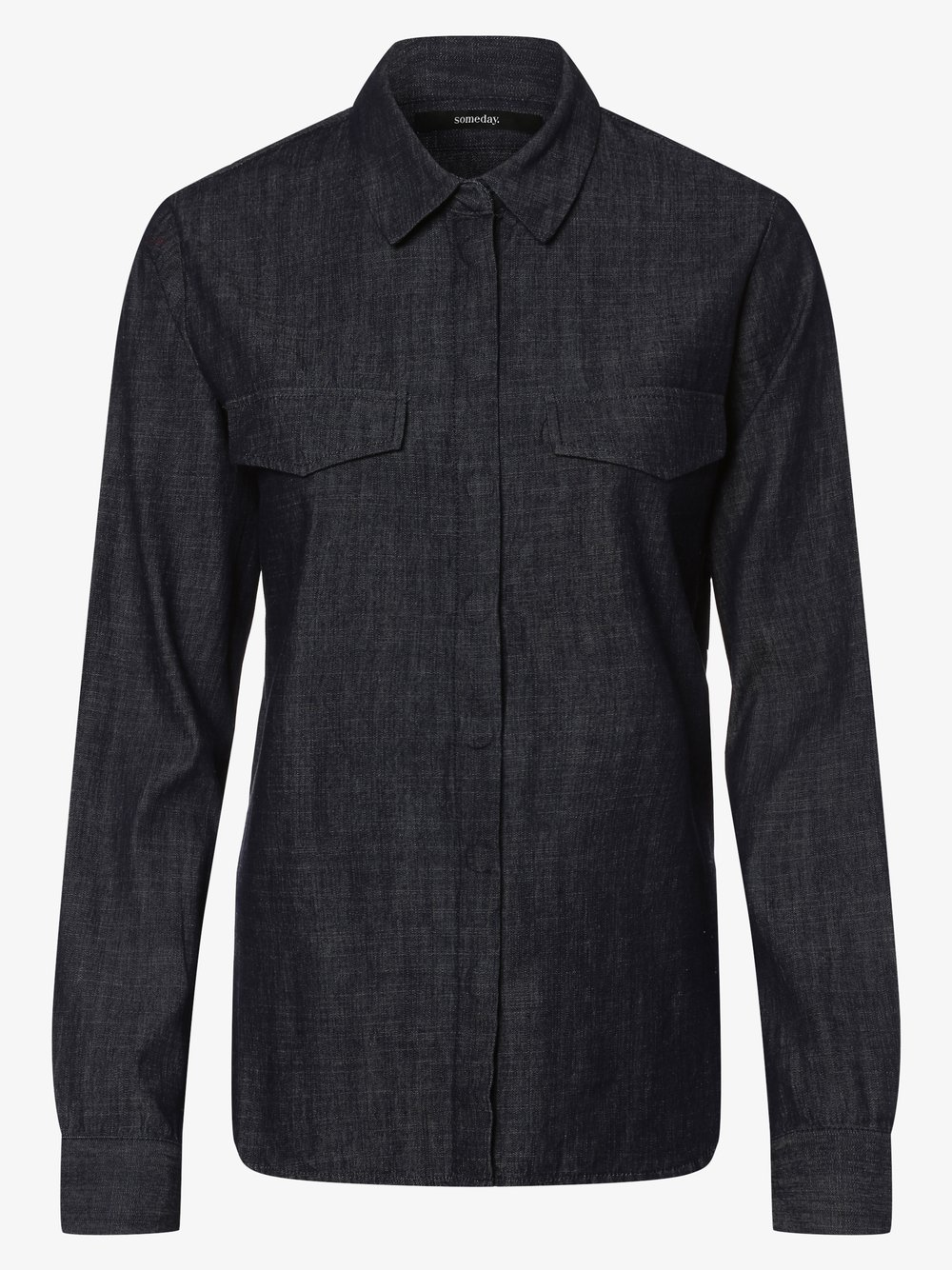 Someday - Damska koszula jeansowa – Zoelie, niebieski