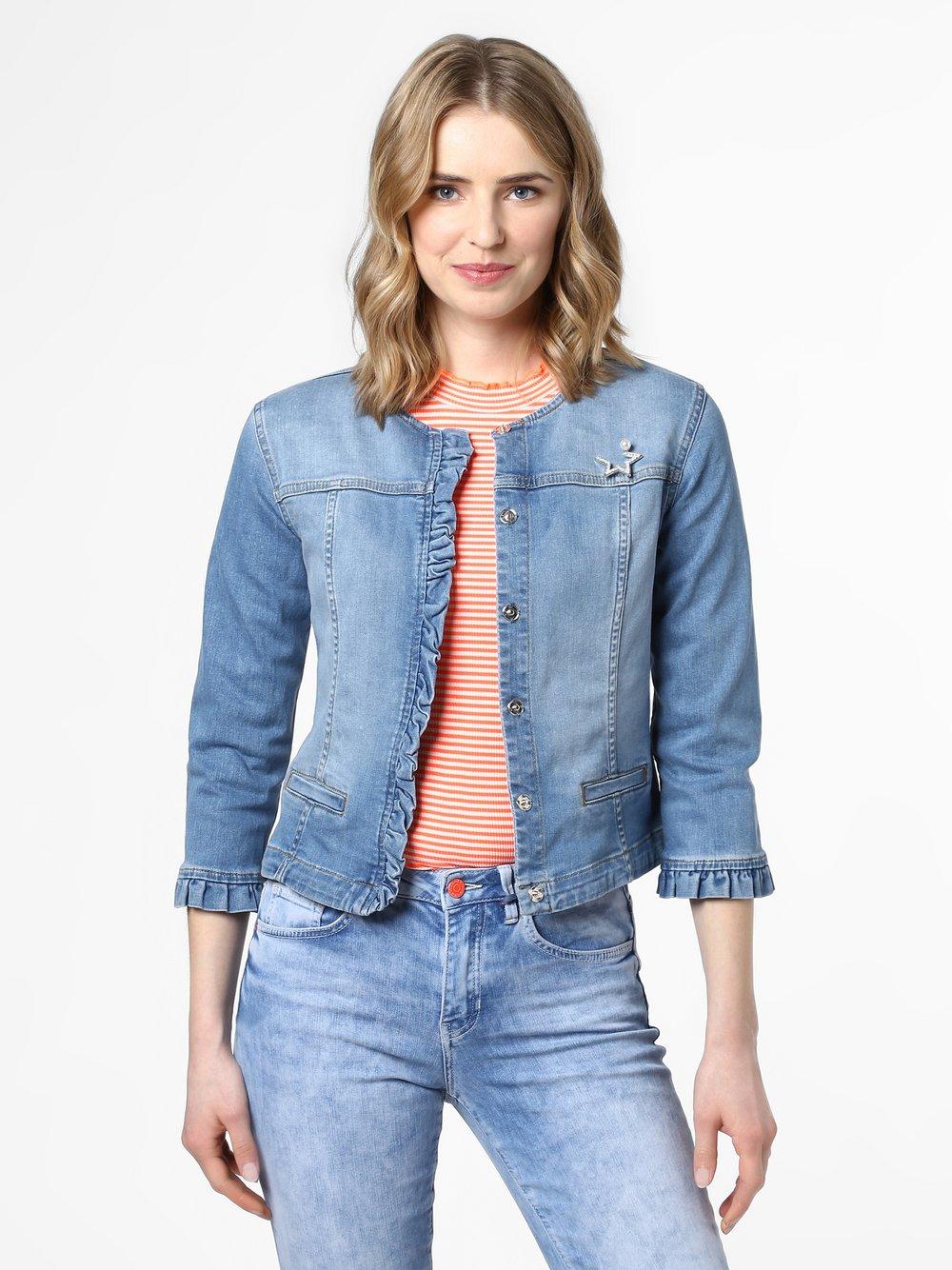 Liu Jo Collection – Damska kurtka jeansowa, niebieski Van Graaf 458192-0001