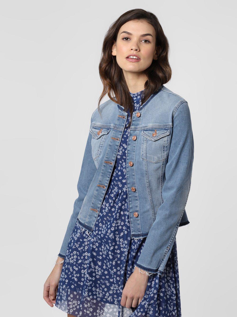 7 For All Mankind – Damska kurtka jeansowa, niebieski Van Graaf 458257-0001