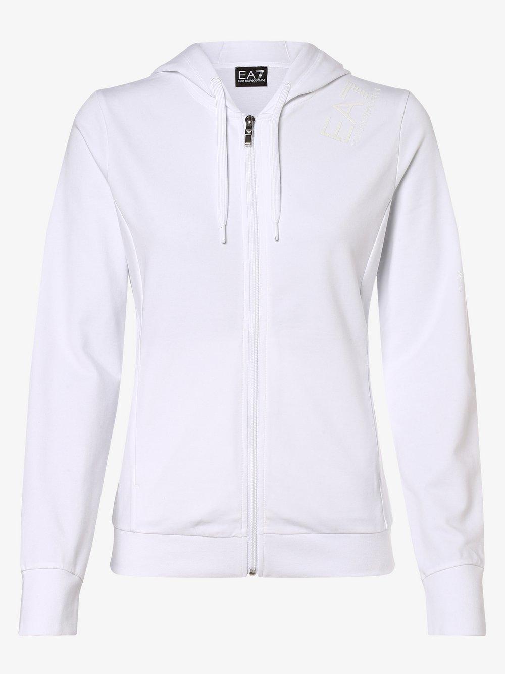 EA7 Emporio Armani - Damska bluza rozpinana, biały