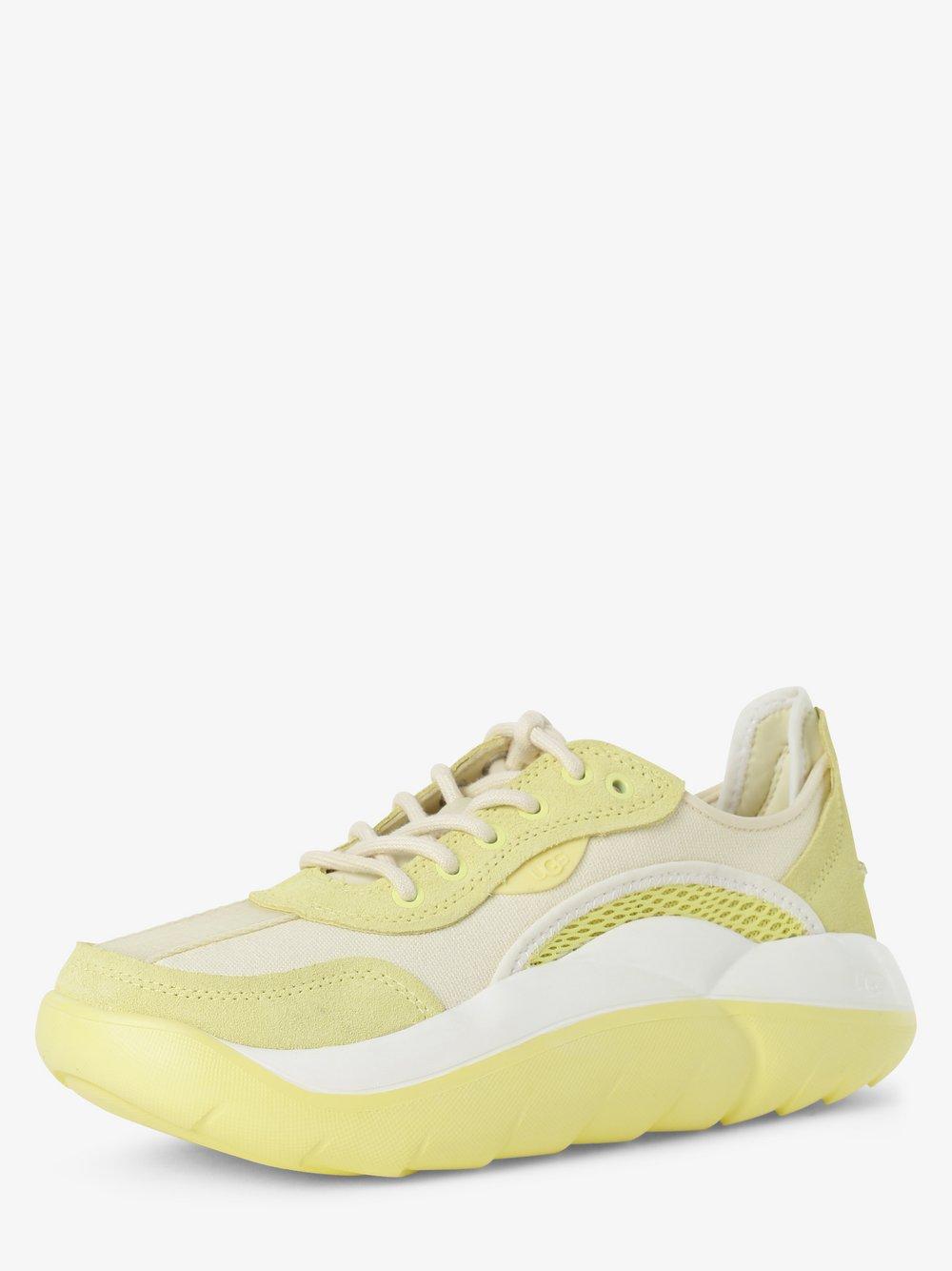 UGG - Tenisówki damskie z dodatkiem skóry – LA Clous Low, żółty