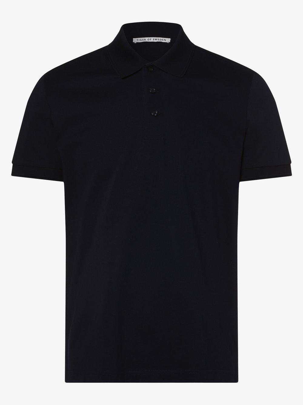 Tiger of Sweden – Męska koszulka polo – Darios, niebieski Van Graaf 458593-0001