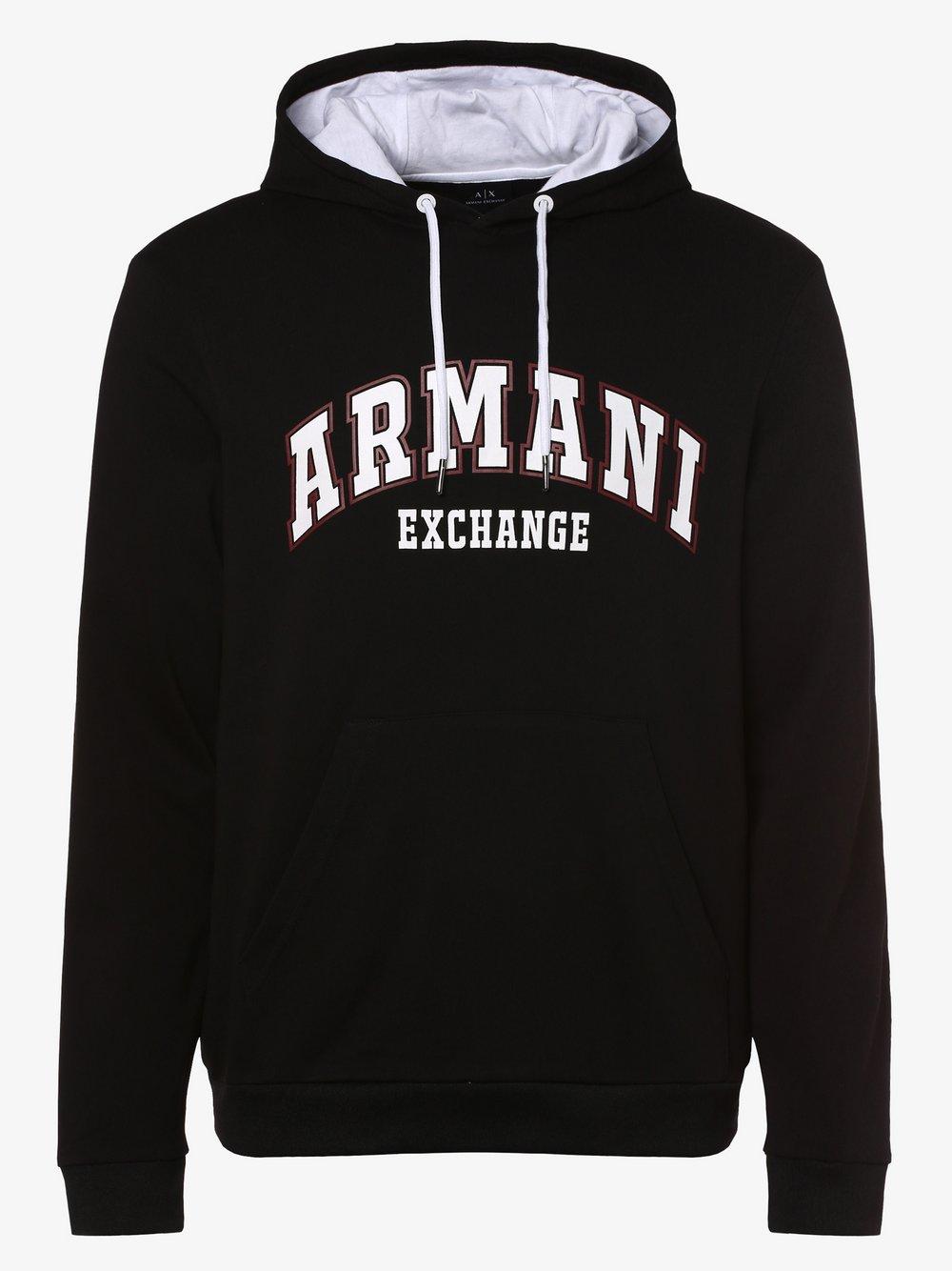 Armani Exchange - Męska bluza nierozpinana, czarny