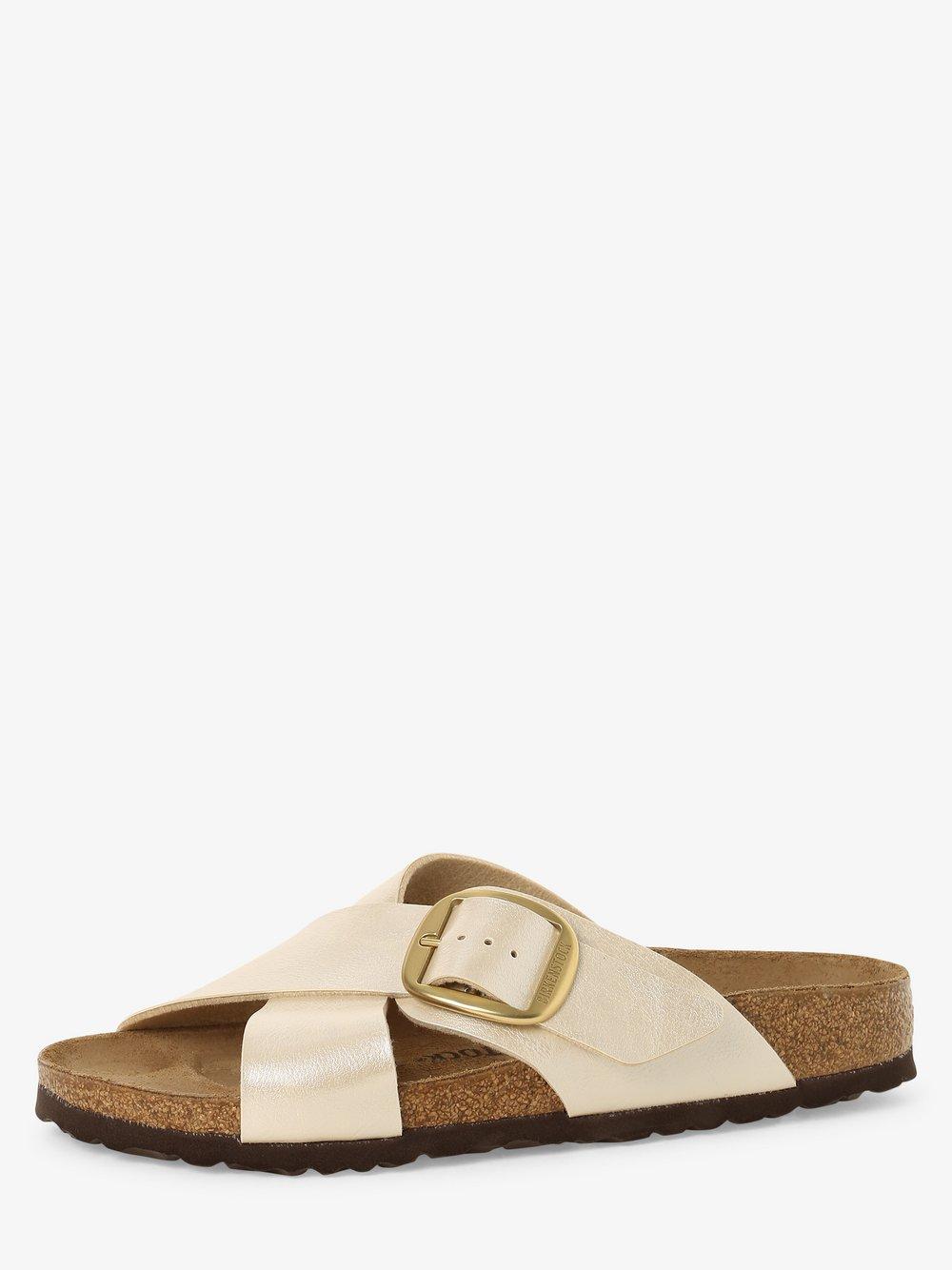 Birkenstock - Sandały damskie z dodatkiem skóry – Siena Big Buckle, beżowy