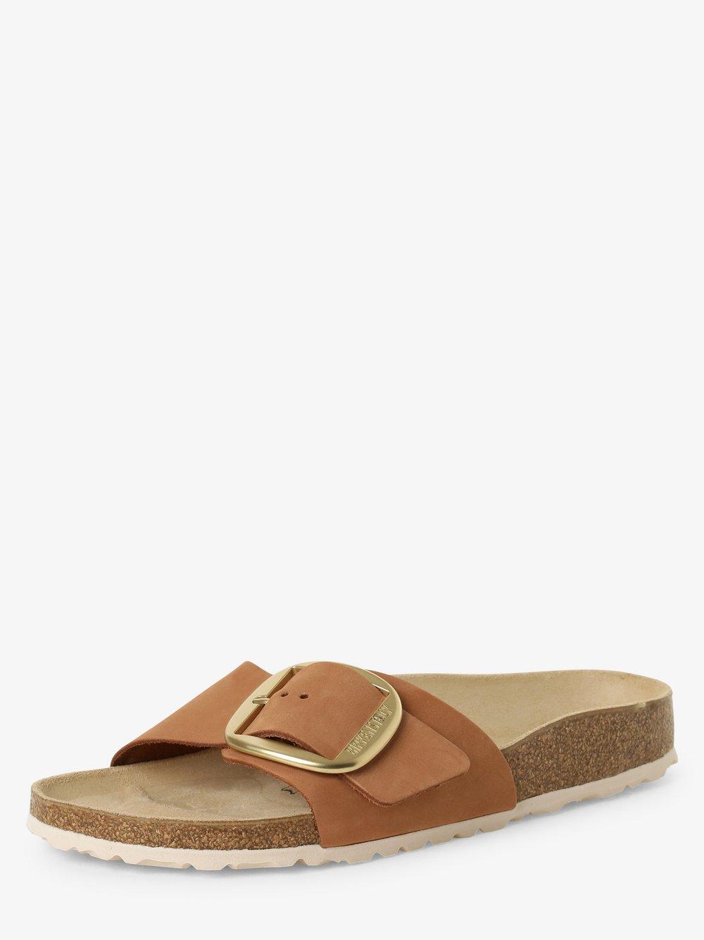 Birkenstock - Sandały damskie ze skóry – Madrid Big Buckle, beżowy