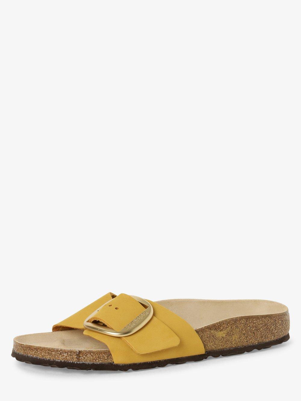 Birkenstock - Sandały damskie ze skóry – Madrid Big Buckle, żółty