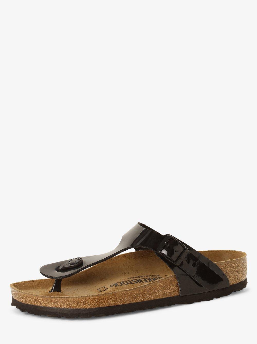 Birkenstock - Sandały damskie z dodatkiem skóry – Gizeh BS, czarny