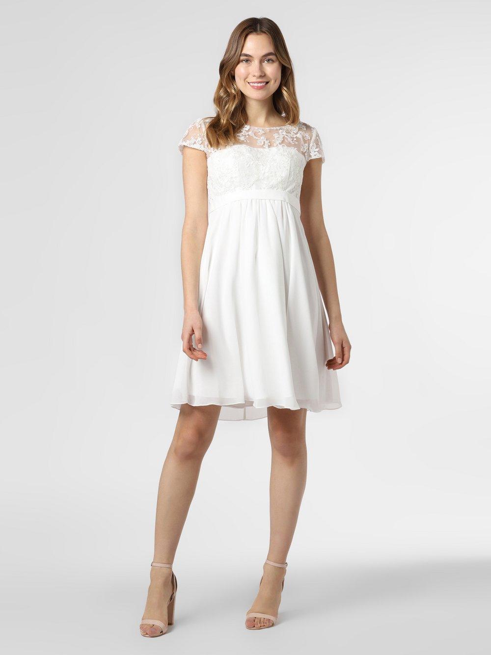 Luxuar Fashion – Damska suknia ślubna, beżowy Van Graaf 459213-0001-00360
