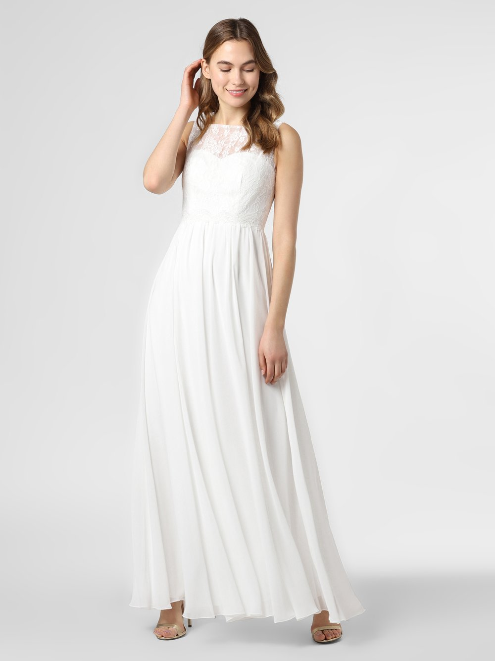 Luxuar Fashion – Damska suknia ślubna, beżowy Van Graaf 459217-0001