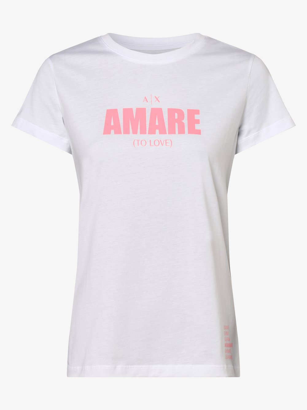 Armani Exchange - T-shirt damski, beżowy