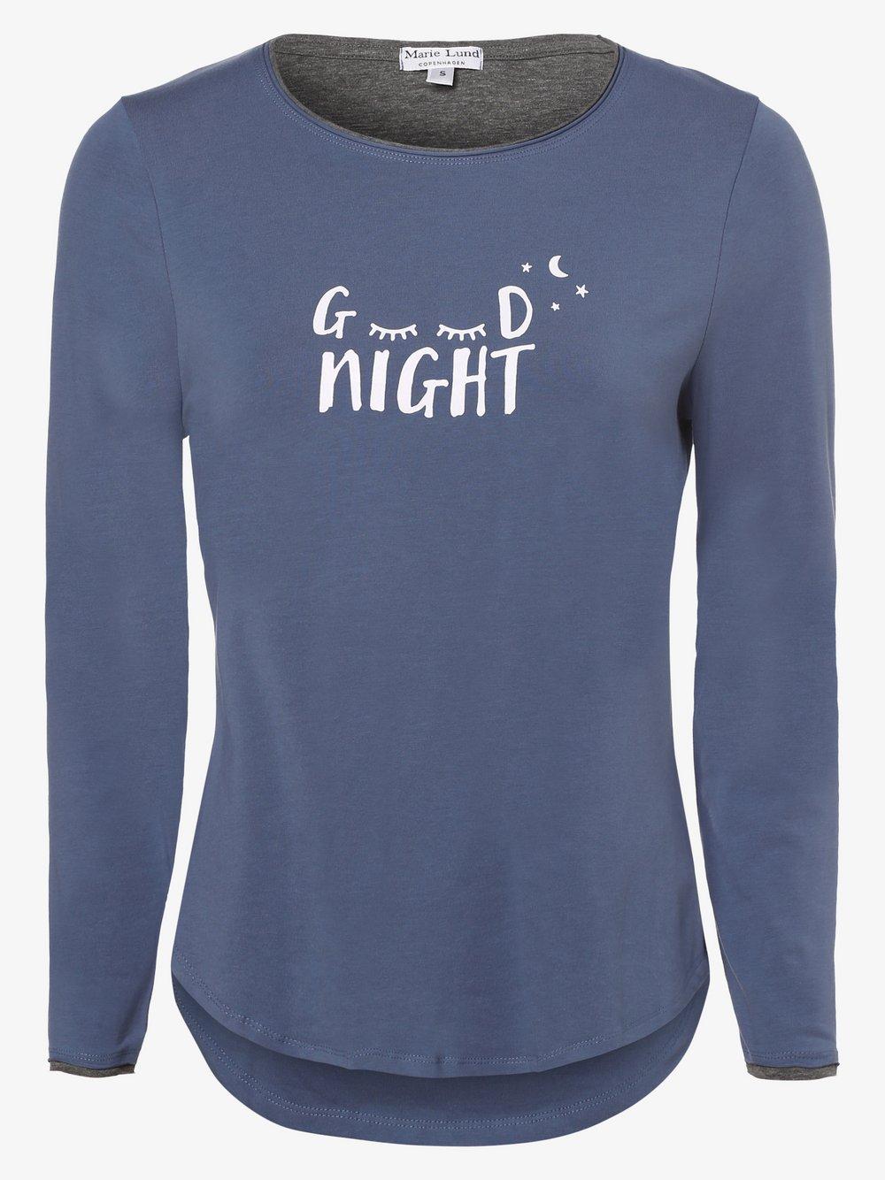 Marie Lund - Damska koszulka od piżamy, niebieski