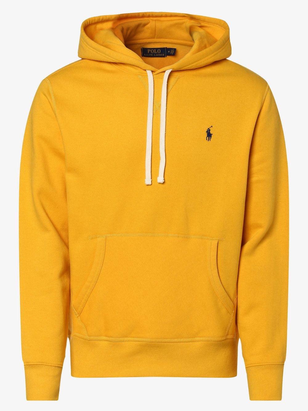 Polo Ralph Lauren - Męska bluza nierozpinana, żółty
