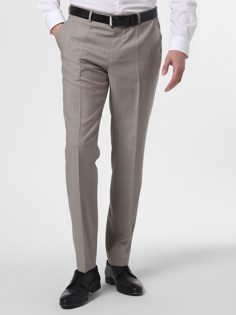 HUGO - Męskie spodnie od garnituru modułowego – Simmons202, beżowy
