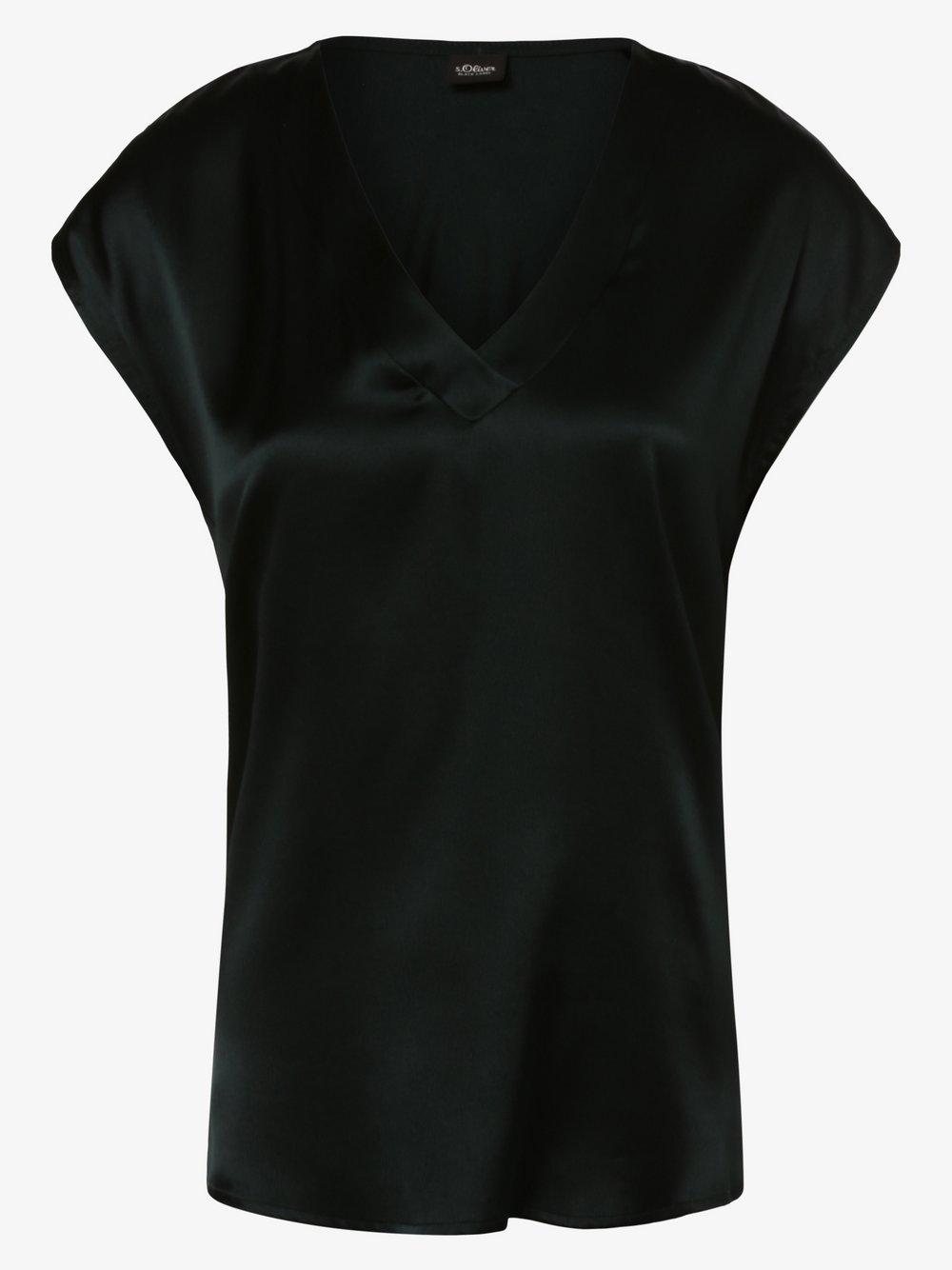 s.Oliver BLACK LABEL - Bluzka damska z dodatkiem jedwabiu, niebieski