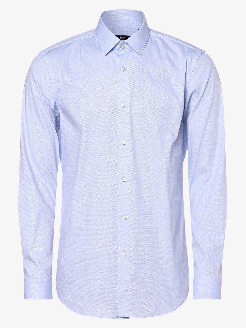 BOSS - Koszula męska łatwa w prasowaniu – Isko, niebieski