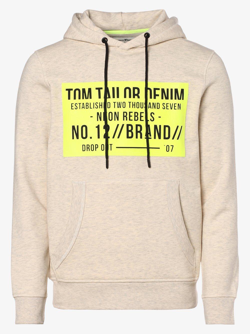 Tom Tailor Denim - Męska bluza nierozpinana, szary