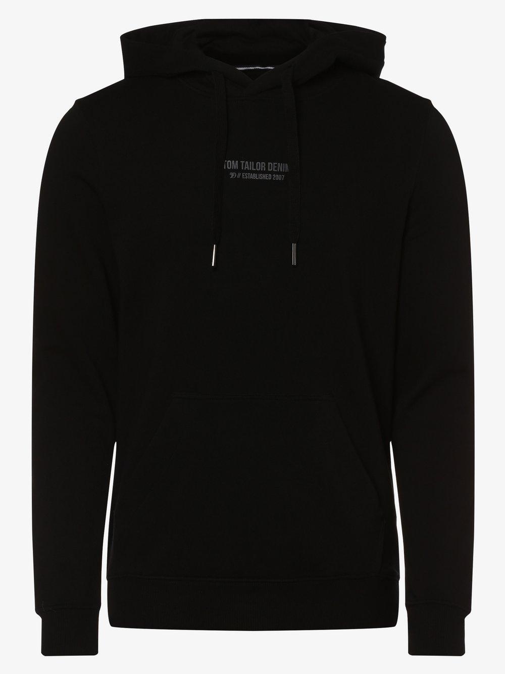 Tom Tailor Denim - Męska bluza nierozpinana, czarny