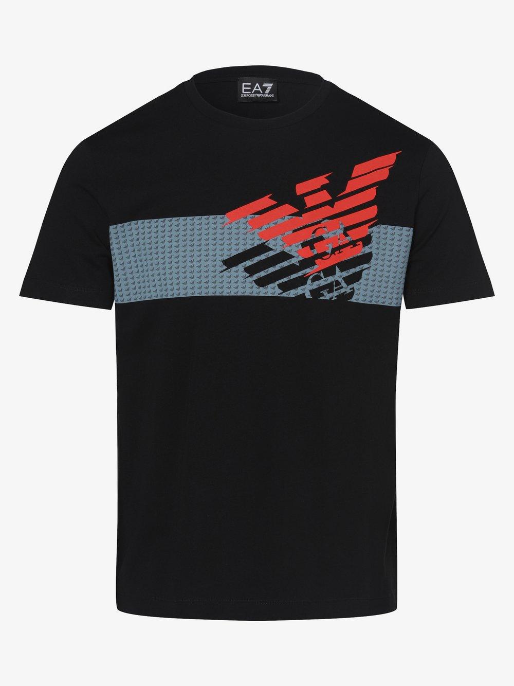EA7 Emporio Armani - T-shirt męski, czarny