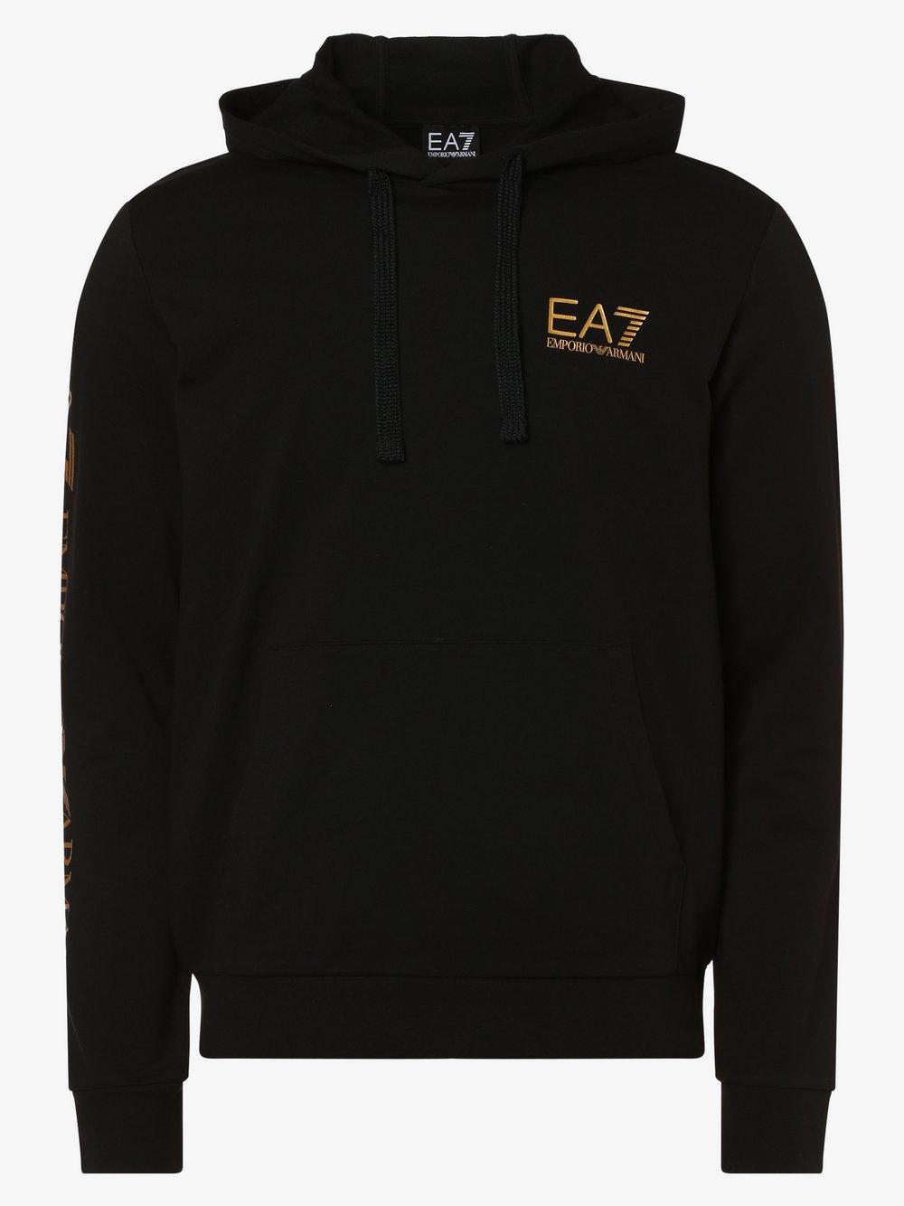 EA7 Emporio Armani - Męska bluza nierozpinana, czarny