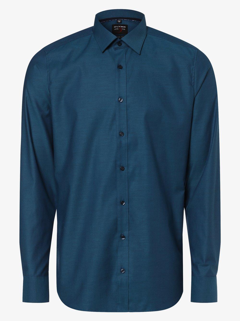 Olymp Level Five – Koszula męska, niebieski Van Graaf 460050-0002