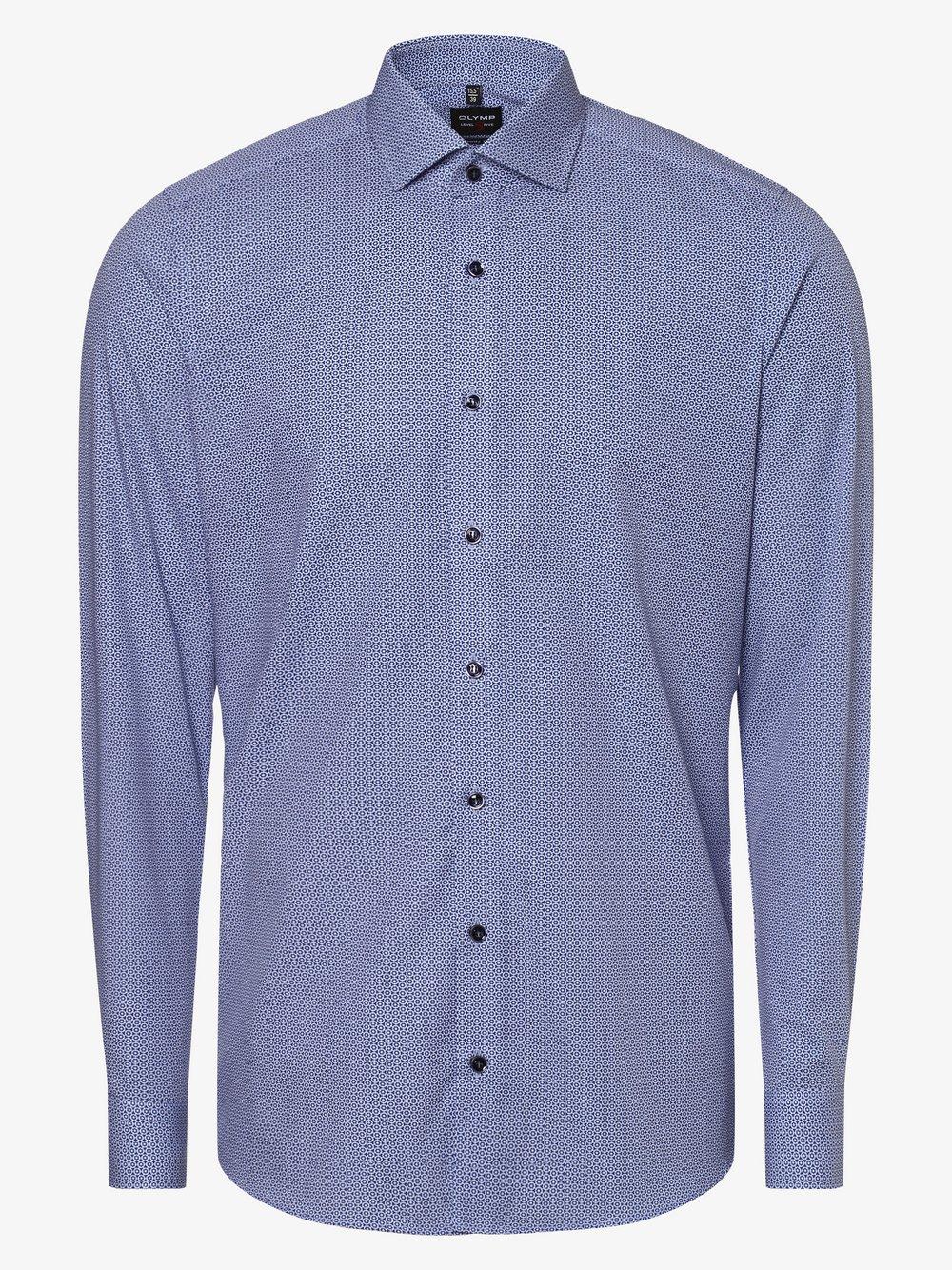 Olymp Level Five – Koszula męska łatwa w prasowaniu, niebieski Van Graaf 460051-0001