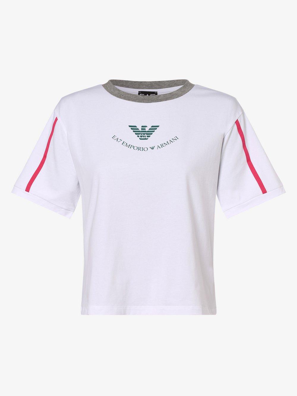 EA7 Emporio Armani - T-shirt damski, biały